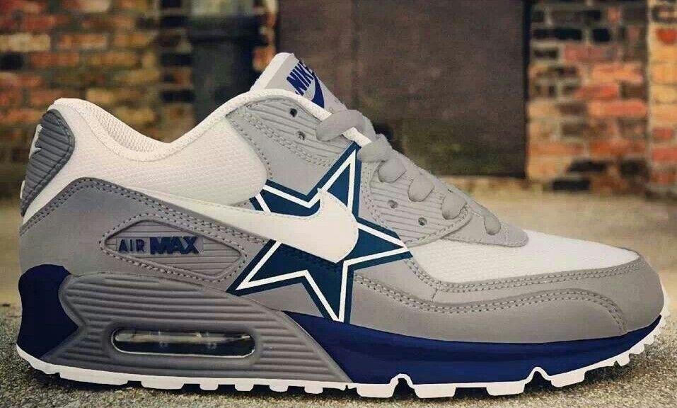 Men Women 2017 Dallas Cowboys Grey Blue Shoes Nike Air Max Sneakers |  Pinterest | Air max sneakers, Cowboys and Air max