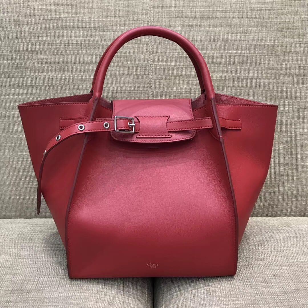 Celine Small Big Bag With Long Strap in Smooth Calfskin Red 2018 ... 81251c75f