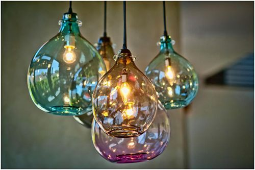 jug lamps by cisco hand blown from recycled glass look amazing on