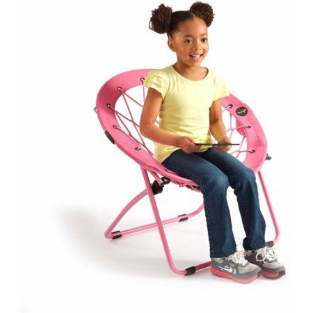 Beau 28 Inch Bunjo Bungee Chair, Multiple Colors, Pink