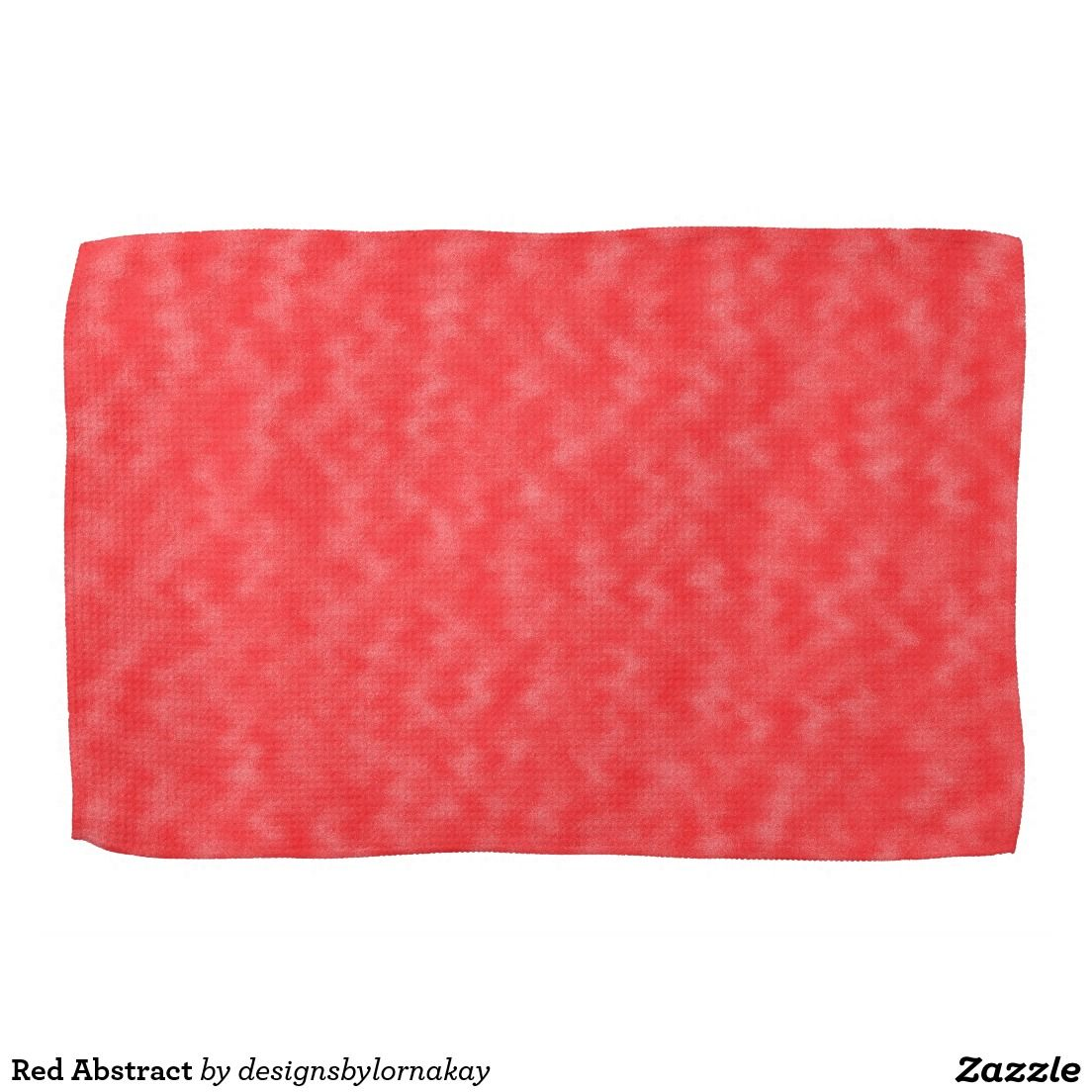 Red Abstract Towels