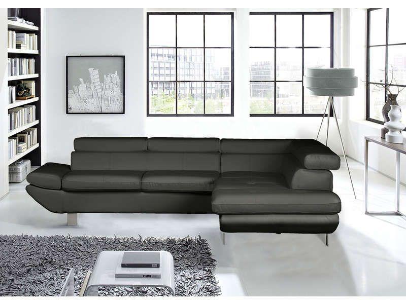 canap d 39 angle fixe droit 5 places loft pas cher canap conforama fixe conforama et angles. Black Bedroom Furniture Sets. Home Design Ideas