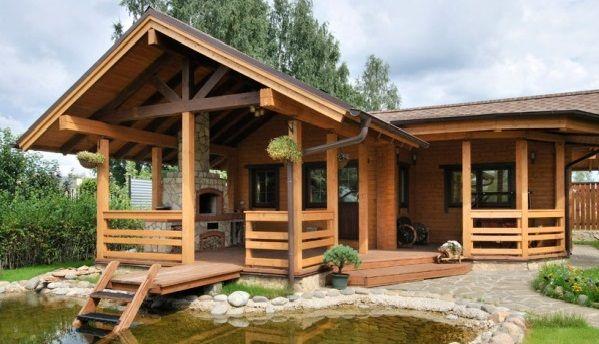 Необычная баня с верандой | План крошечного дома, Домашняя ...
