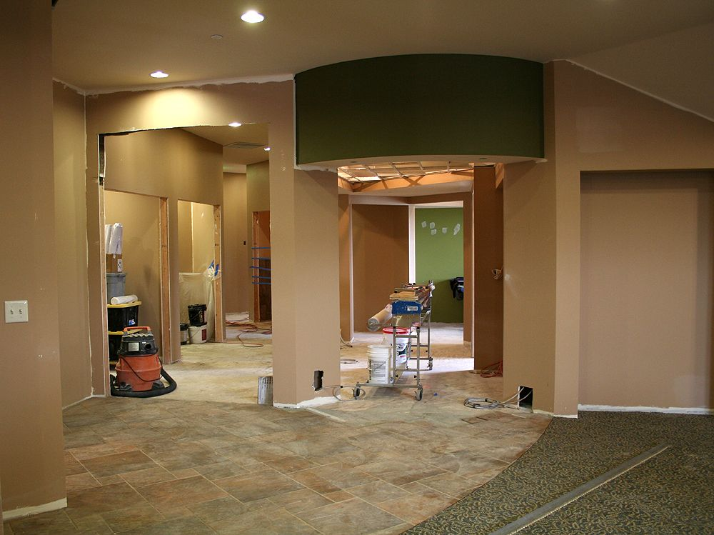 Beau Medical Office Color Schemes | ... And Most Of The Base Paint Color In.  Casework And Doors Still To Come