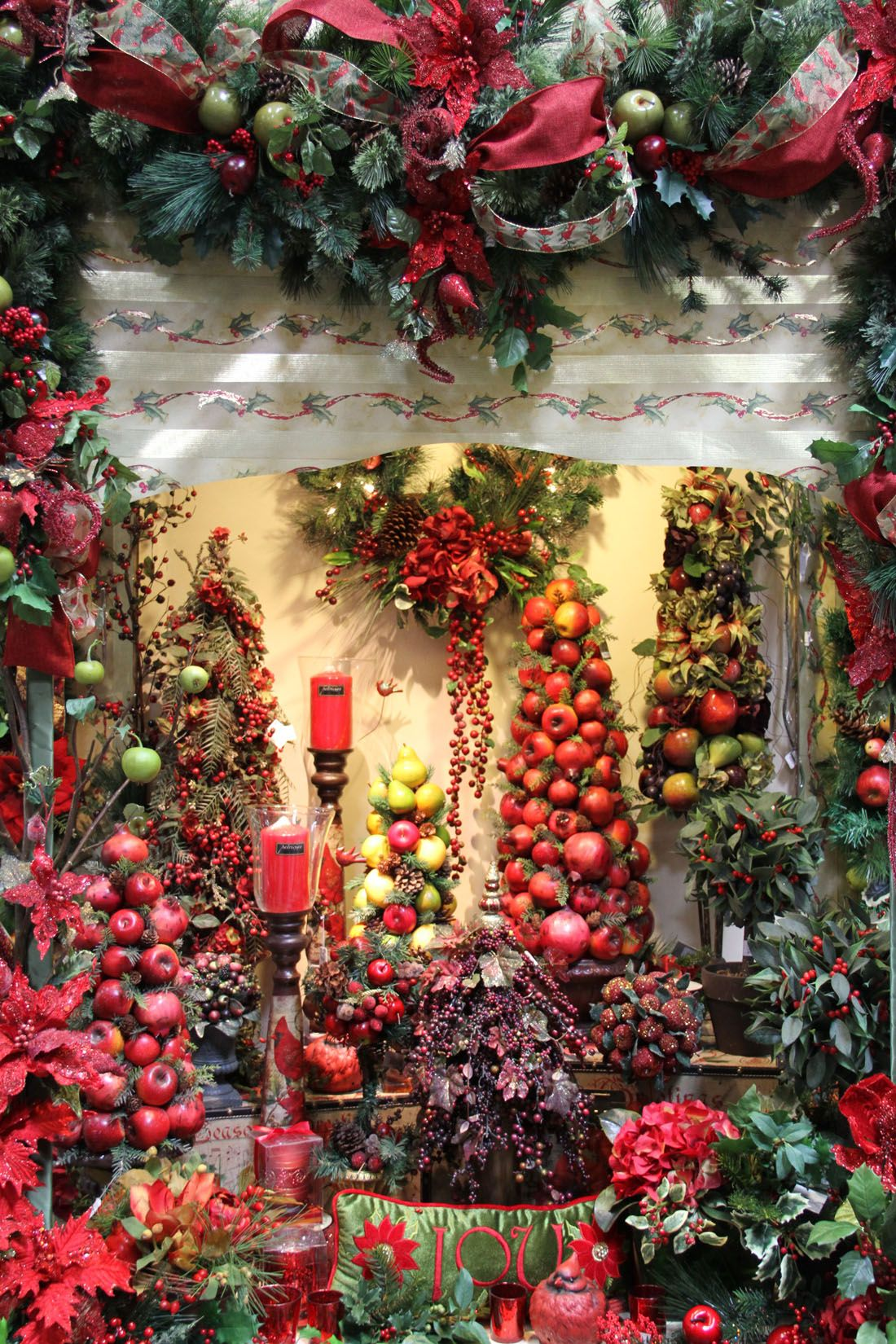 Berry merry christmas display santa ana california