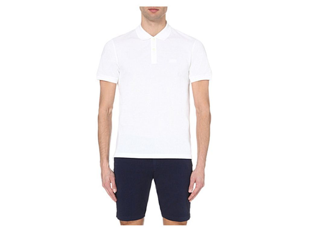 BOSS BLACK CASUAL Slim-fit cotton-piqu polo shirt