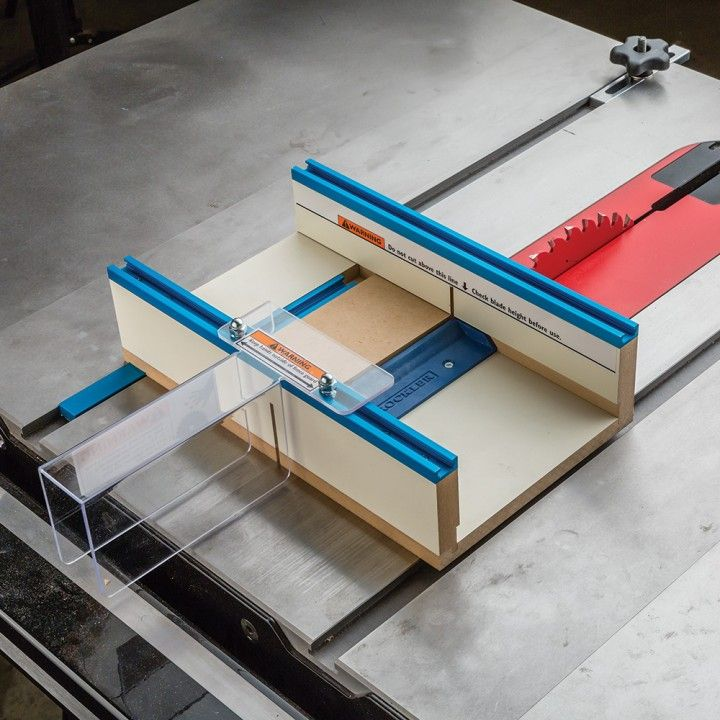 Diy Workbench Upgrades: Rockler Table Saw Small Parts Sled In 2019
