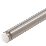 Through Glass Curtain Rod Tube3472bs Crl Brushed Stainless