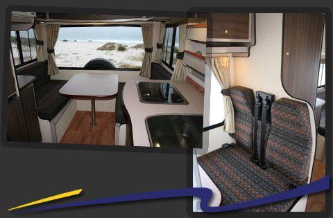 Interior 4 berth camper discoverer 4 berth motorhome for Interior motorhome designs