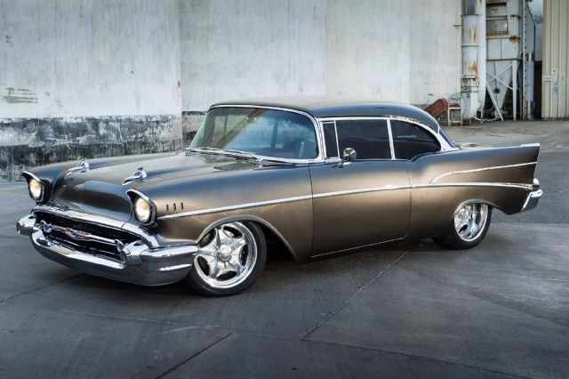 Day 25 Car Love Satin Black 1957 Chevy Bel Air I Need This