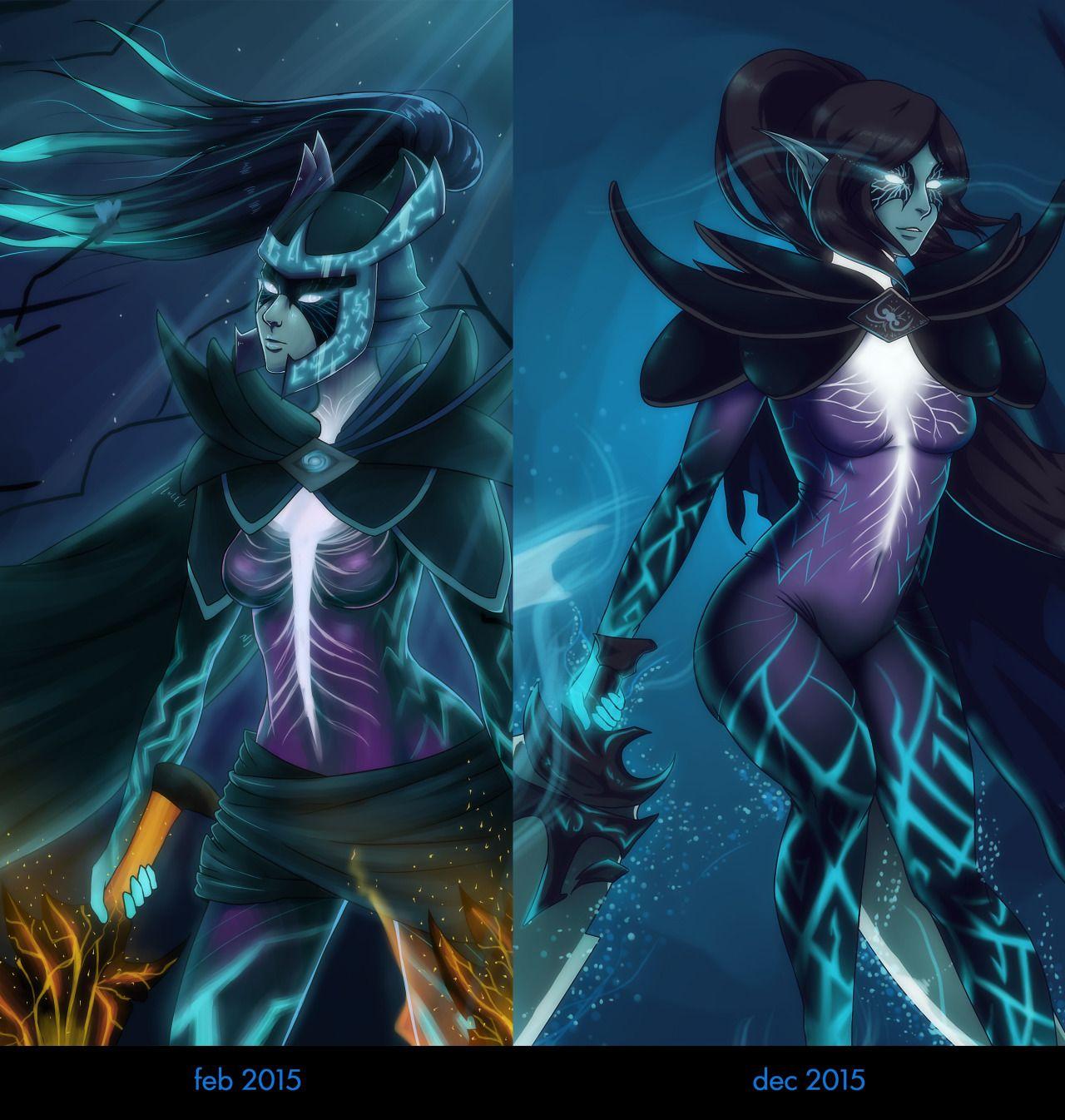 phantom assassin dota 2 by drawblefuss character design