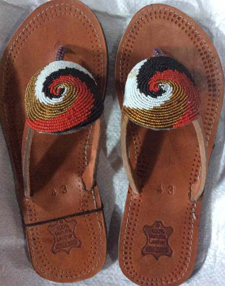 Africanleathersandles beaded sandals leather fall