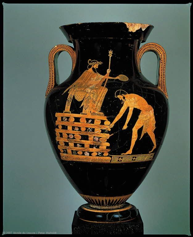 This Amphora Attributed To The Painter Myson Is One Of The Rare Vases Produced In Greece To Feature A Histo Ancient Greek Pottery Ancient Greek Art Greek Art