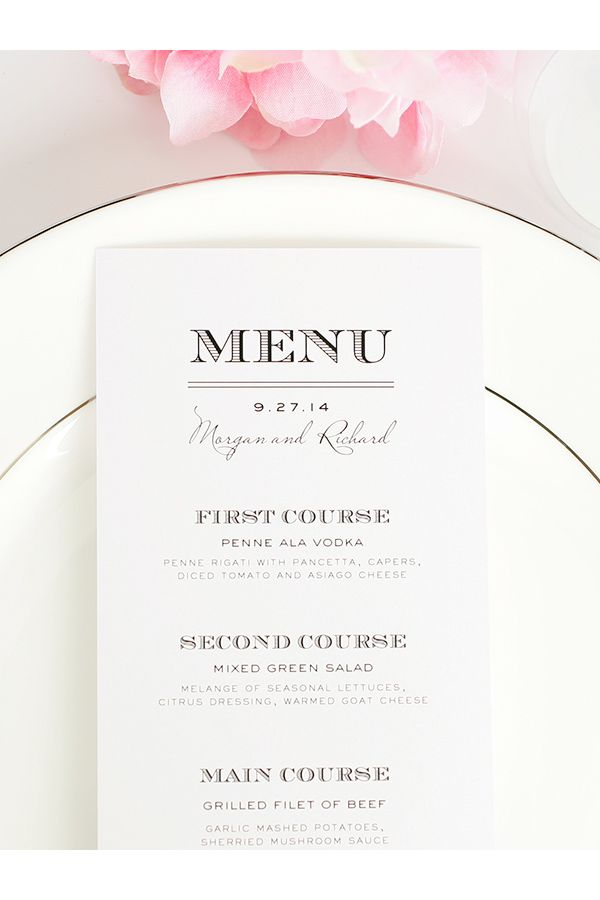 Antique Vintage Wedding Menus  Wedding Menu Vintage Weddings And