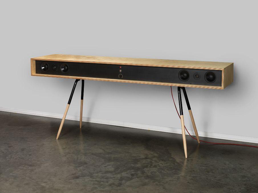 speaker table mikekimdesign audio furniture consoles