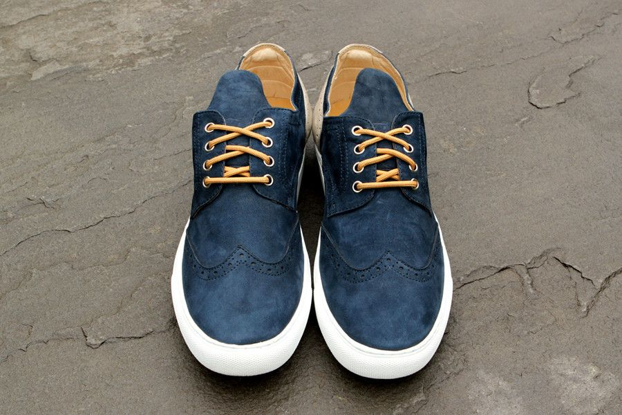 Filling Pieces Brogue - Navy | Shoes | Kith NYC
