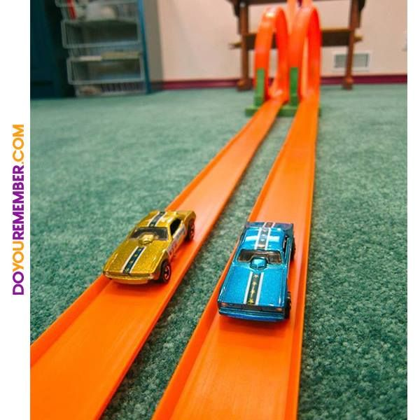 Hot Wheels. Santa brought us a cool track with loops and set it up and everything!