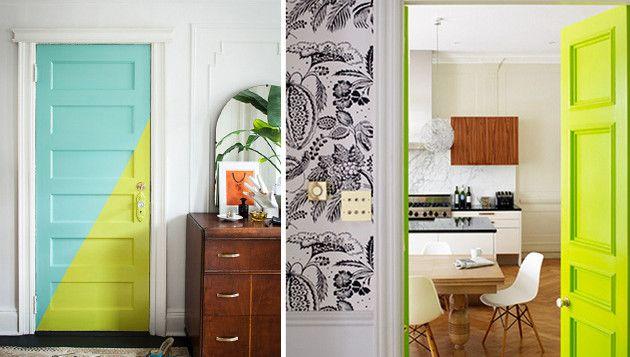10 ideas para pintar o decorar puertas de interior Puertas de