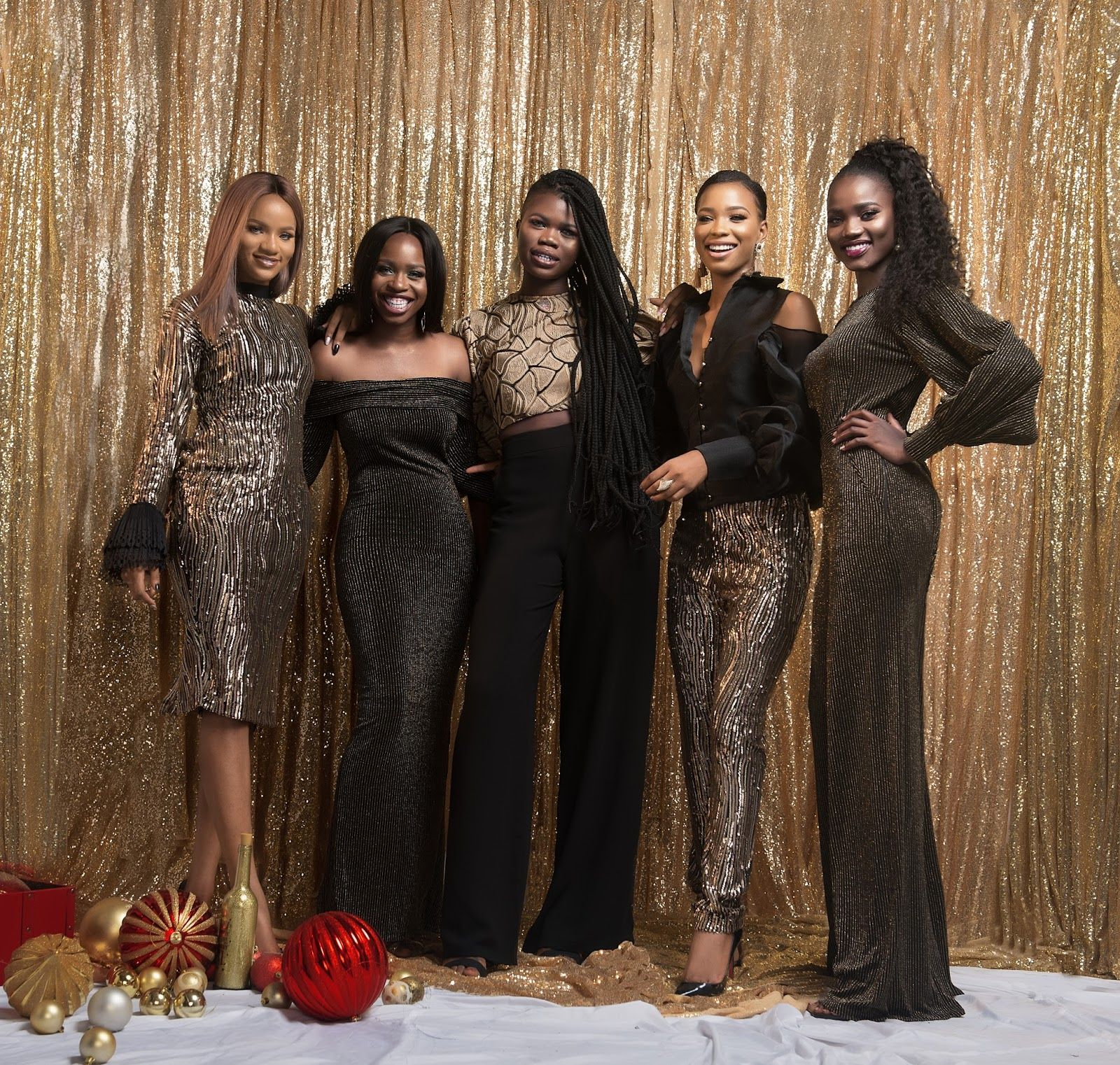 A Merry Maju Christmas Gold And Black Dress Black And Gold