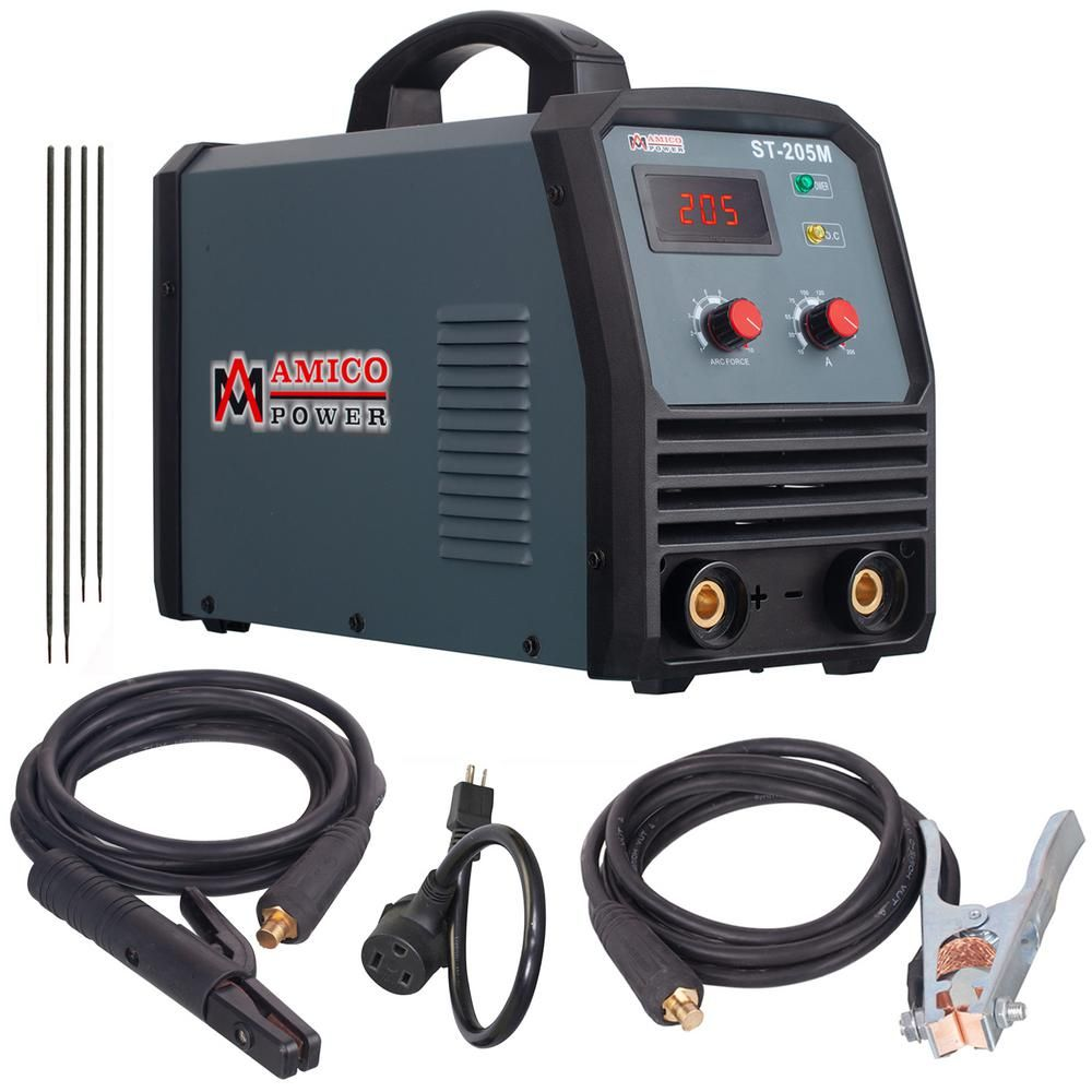 Amico Power Amico 205 Amp Stick Arc Lift Tig 2 In 1 Dc Inverter Welder 115 230 Volt Dual Voltage Welding Machine N In 2020 Welding Projects Inverter Welder Diy Welding