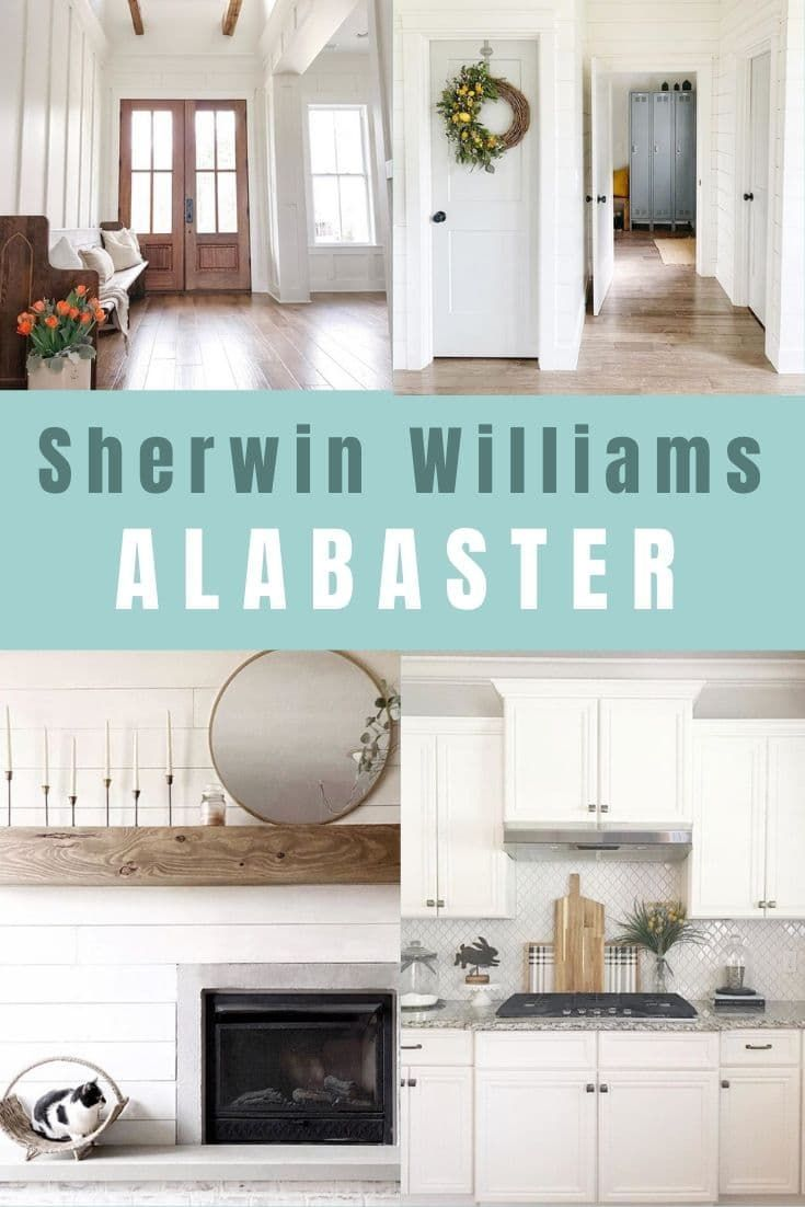 Best Sherwin Williams Alabaster White Paint Color Home Decor 400 x 300