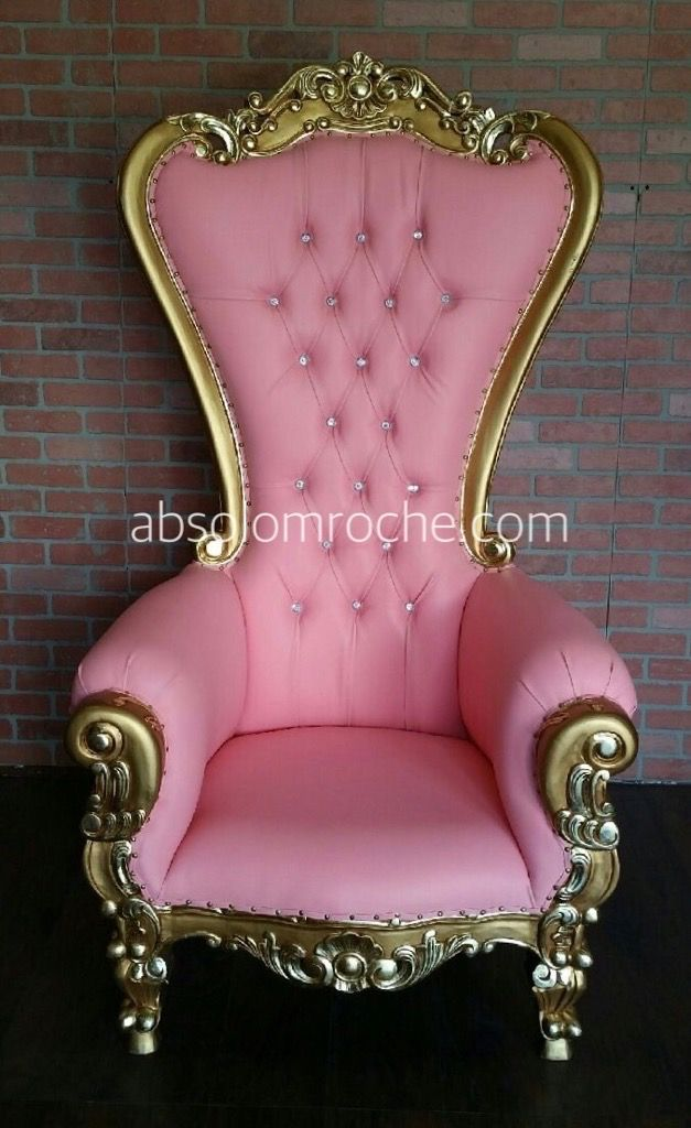 2017 MODEL CLEARANCE | Absolom Roche Chair - Gold/Pink — Absolom ...