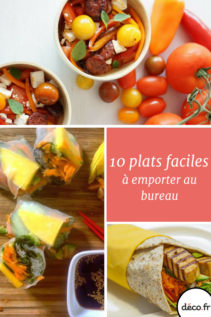 10 plats faciles emporter au bureau Lunch box Bento and Lunches