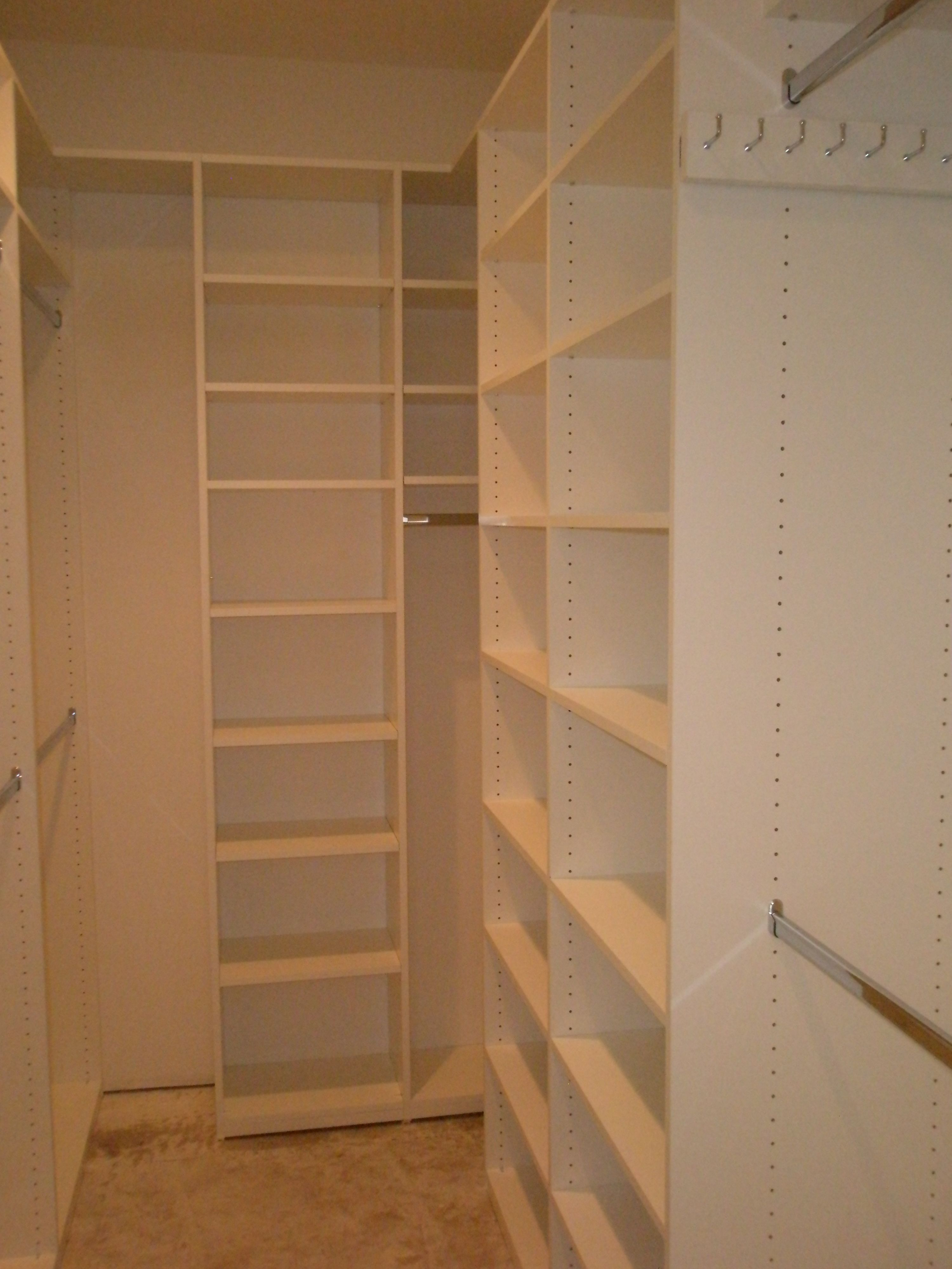 My treatment of a long and narrow closet custom walk in for A walk in closet