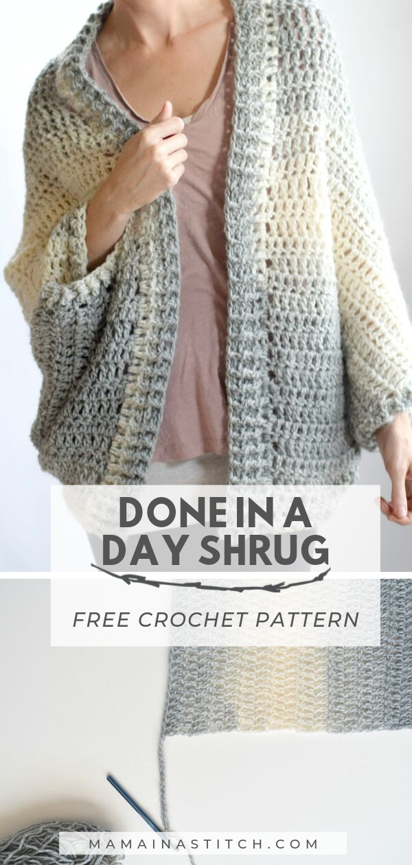 Free Crochet Pattern - Done In A Day Cardigan