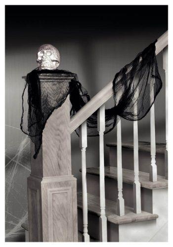 Black Cheesecloth Drape #halloween #decor Elegant Halloween - elegant halloween decorations