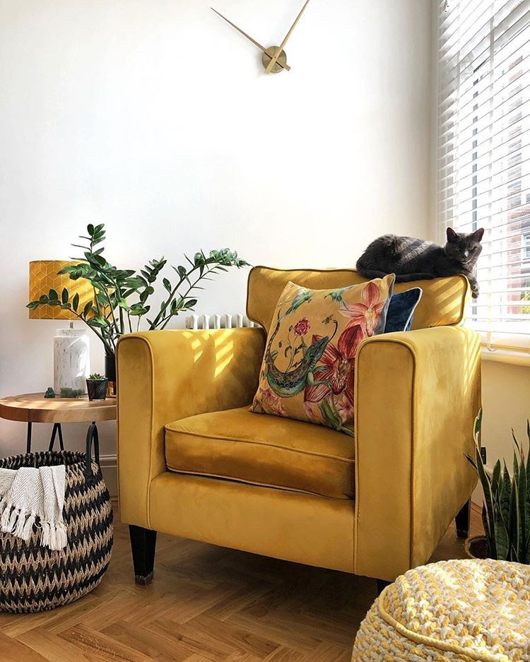Golden Yellow Furniture Interior Design Cozy Interior Design Interior Design Yellow Furniture