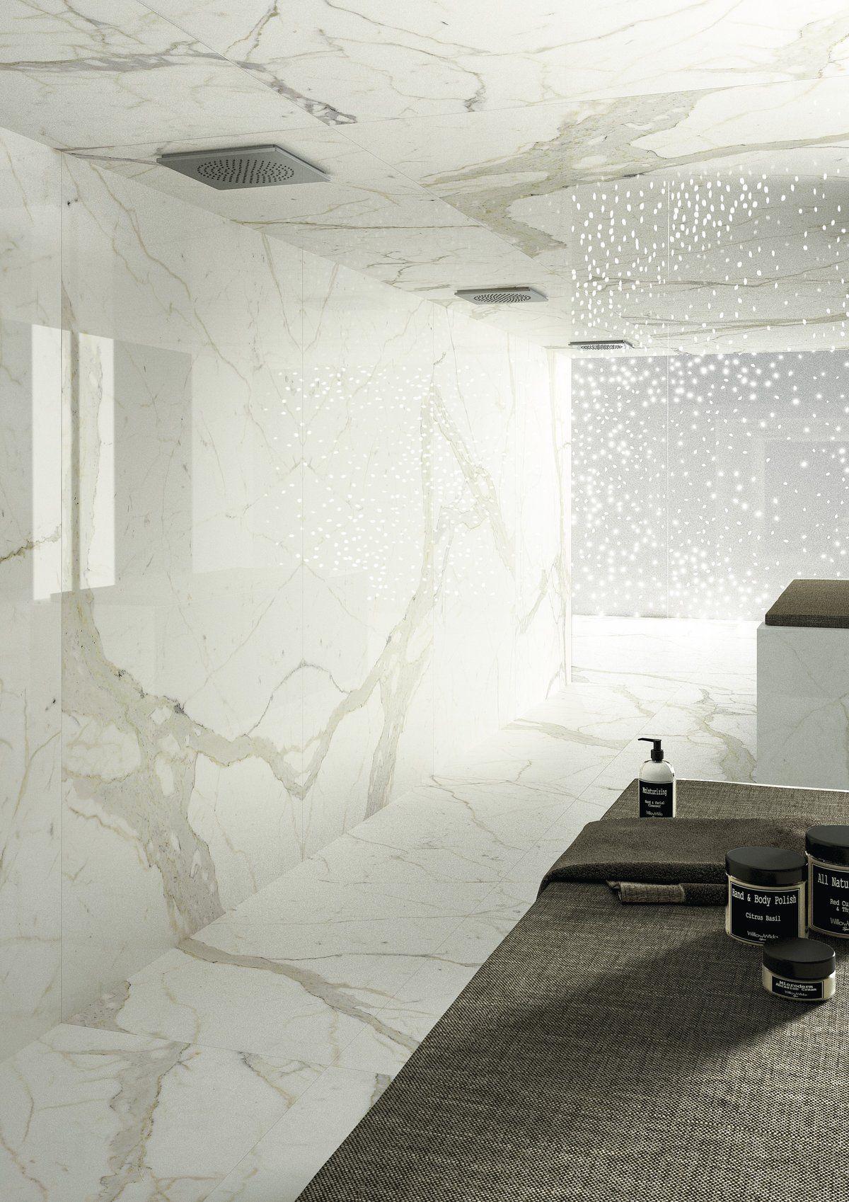 Calacatta 120 Quot X60 Quot Porcelain Panels Bath Porcelain