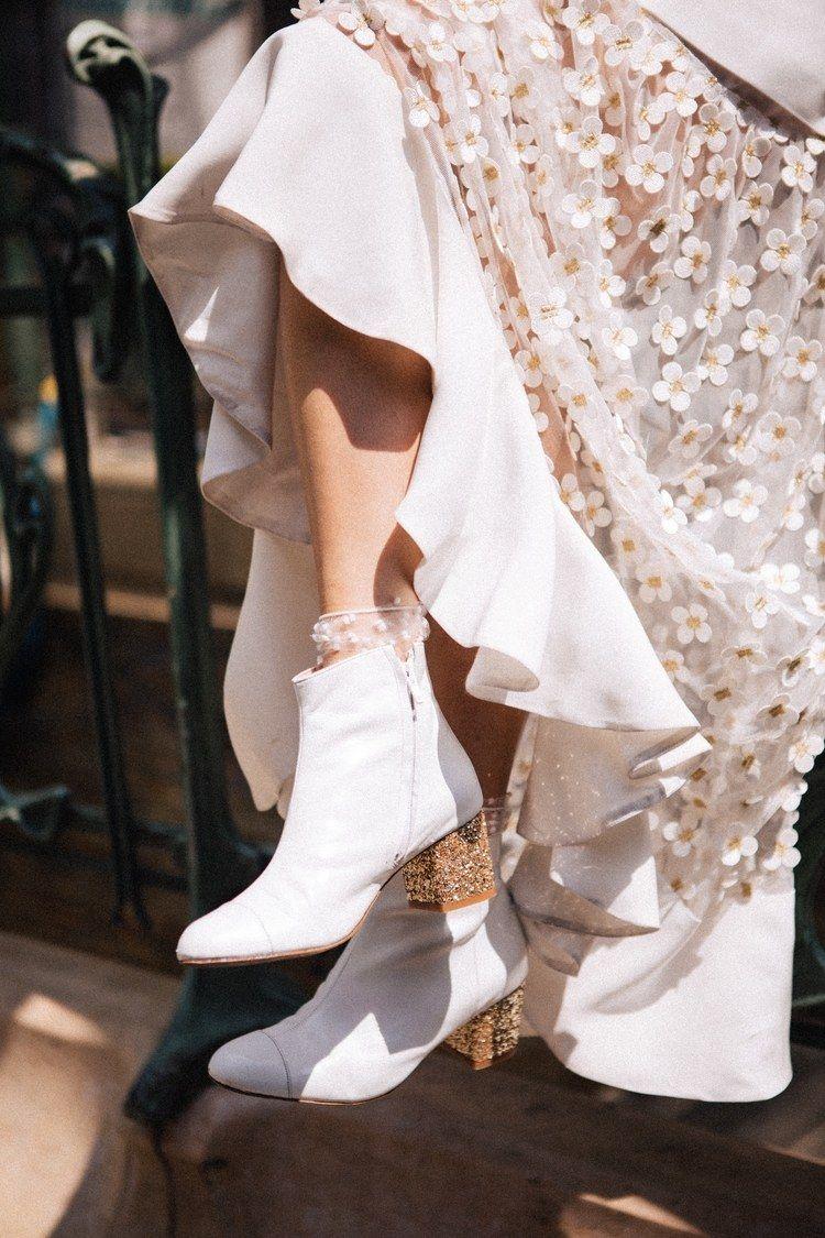 Elise Hameau and Chamberlan have designed wedding shoes you