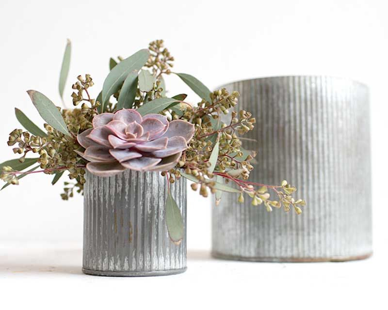 Galvanized planter, large planer, indoor planter, galvanized metal, galvanized decor, zinc, planter pot, zinc planter, rustic wedding by dirtcouture on Etsy https://www.etsy.com/listing/256604244/galvanized-planter-large-planer-indoor