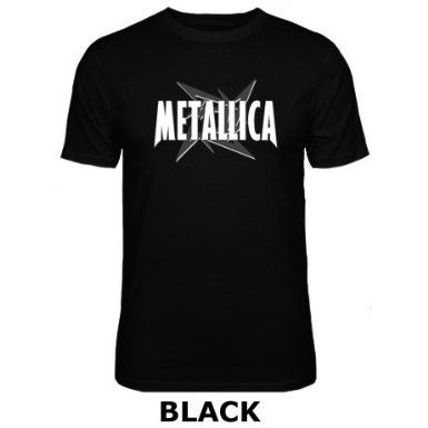 Mens Metallica Rock Metal Music Band Logo T Shirt Amazon Co Uk