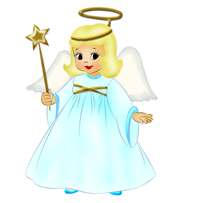 40+ Cute Flying Transparent Angel Clipart
