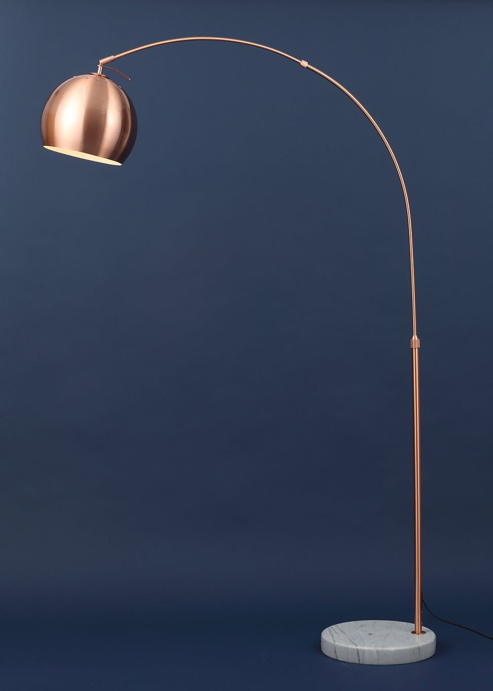 Copper Bronze Arc Floor Lamp