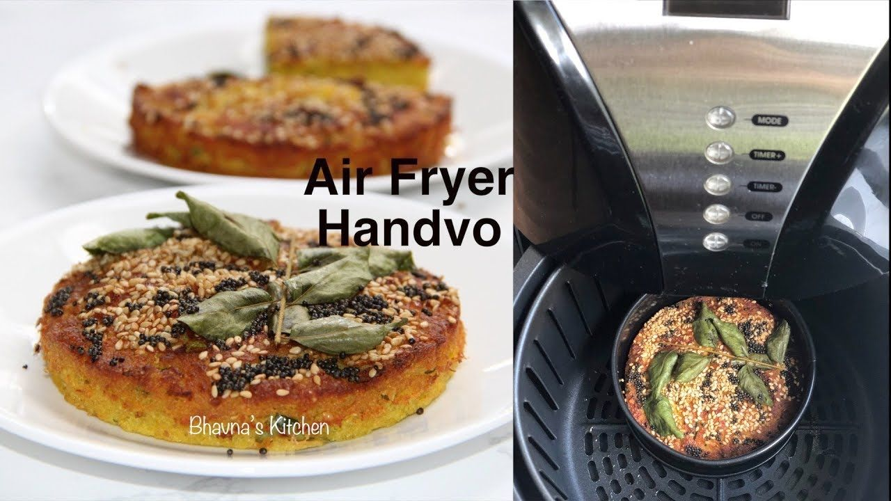 Air Fryer Handvo Video Recipe Savory Semolina Bread Cake