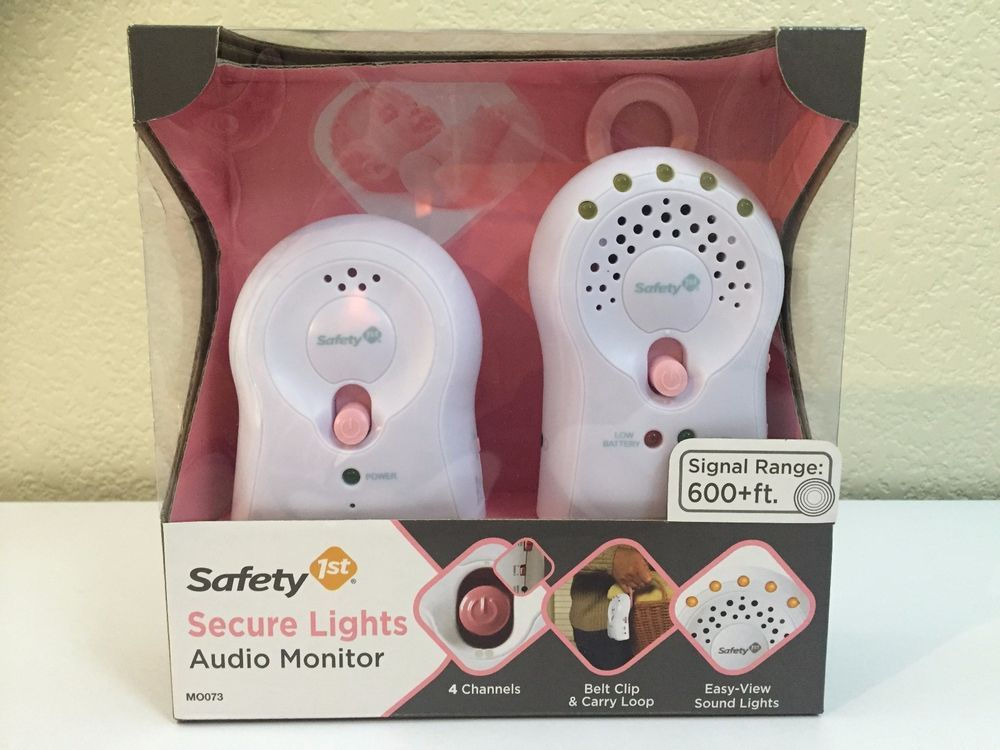 SAFETY 1st Secure Lights Audio Monitor Pink Belt Clip