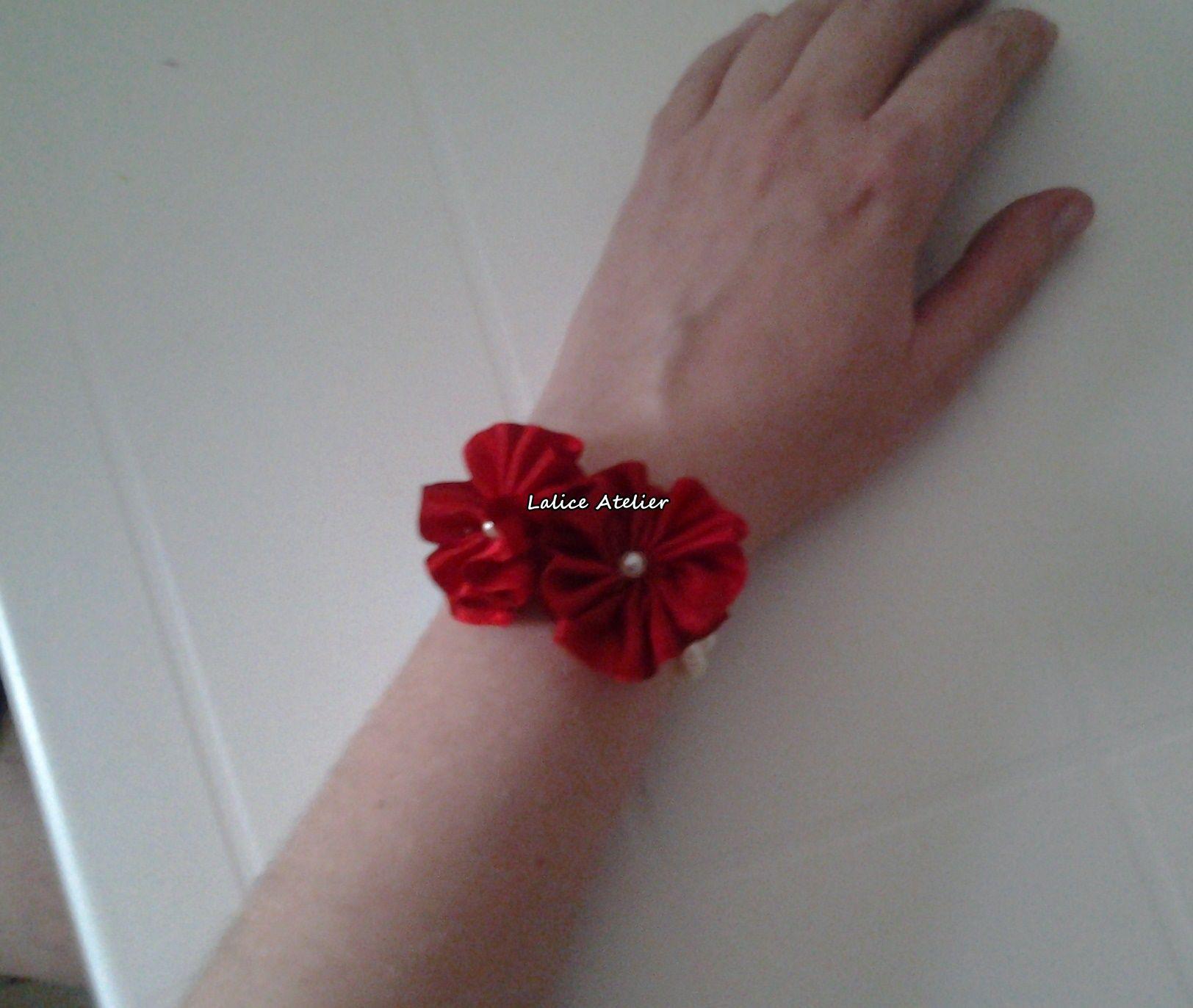 Corsage flor de fita de cetim modelo 05   #corsage #pulseiramadrinha #casamento #madrinha #acessóriocasamento