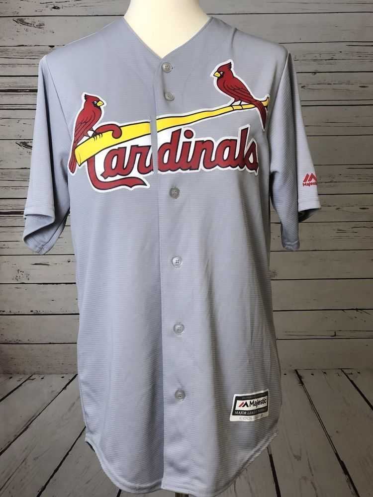 watch c73f0 efa82 Majestic St. Louis Cardinals Gray Official Cool Base Jersey ...