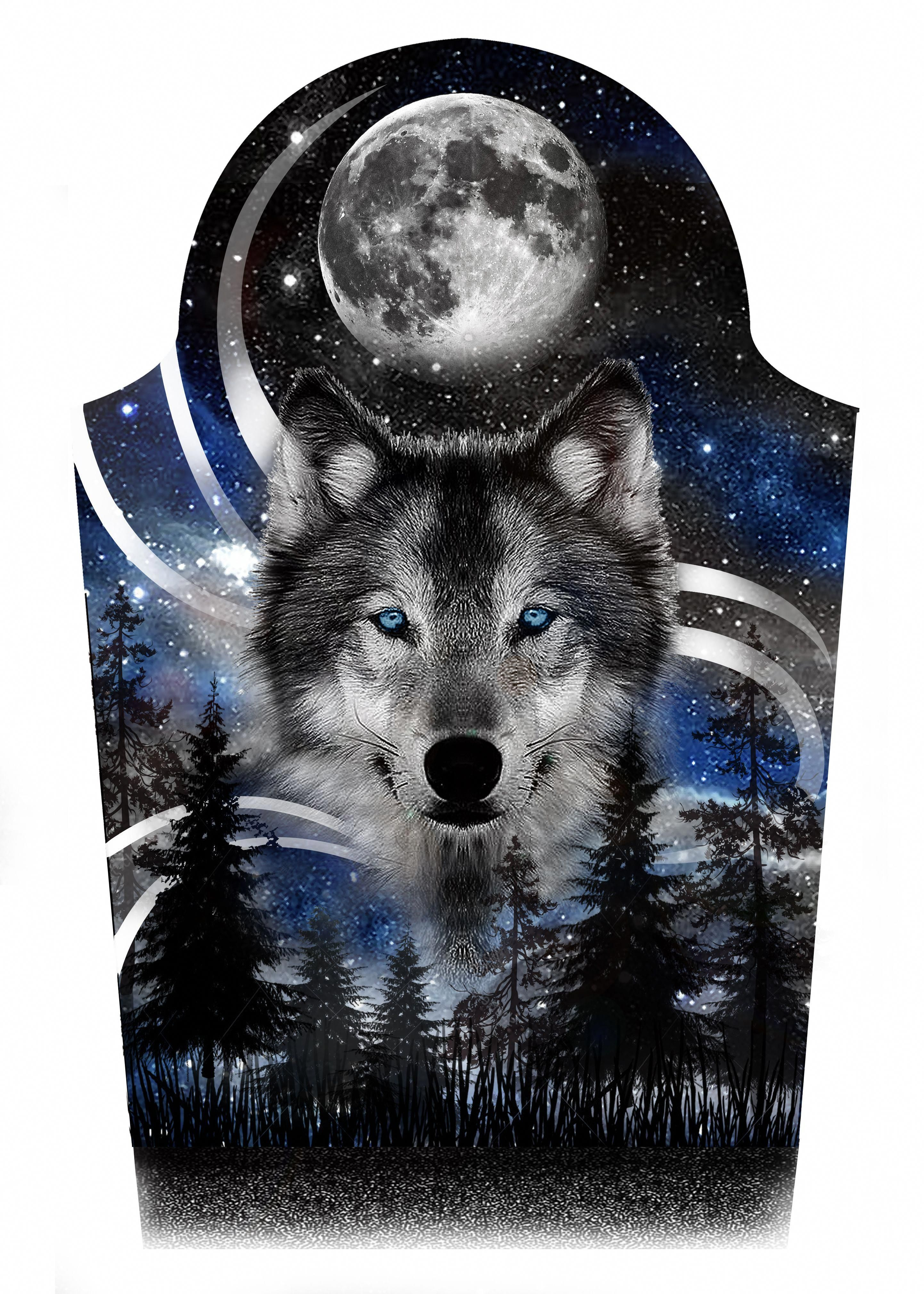 Wolf Moon Night Stars Sky Forest Half Sleeve Tattoo Design Designer Andrija Protic Halfsle Half Sleeve Tattoo Wolf Tattoo Sleeve Half Sleeve Tattoos Designs