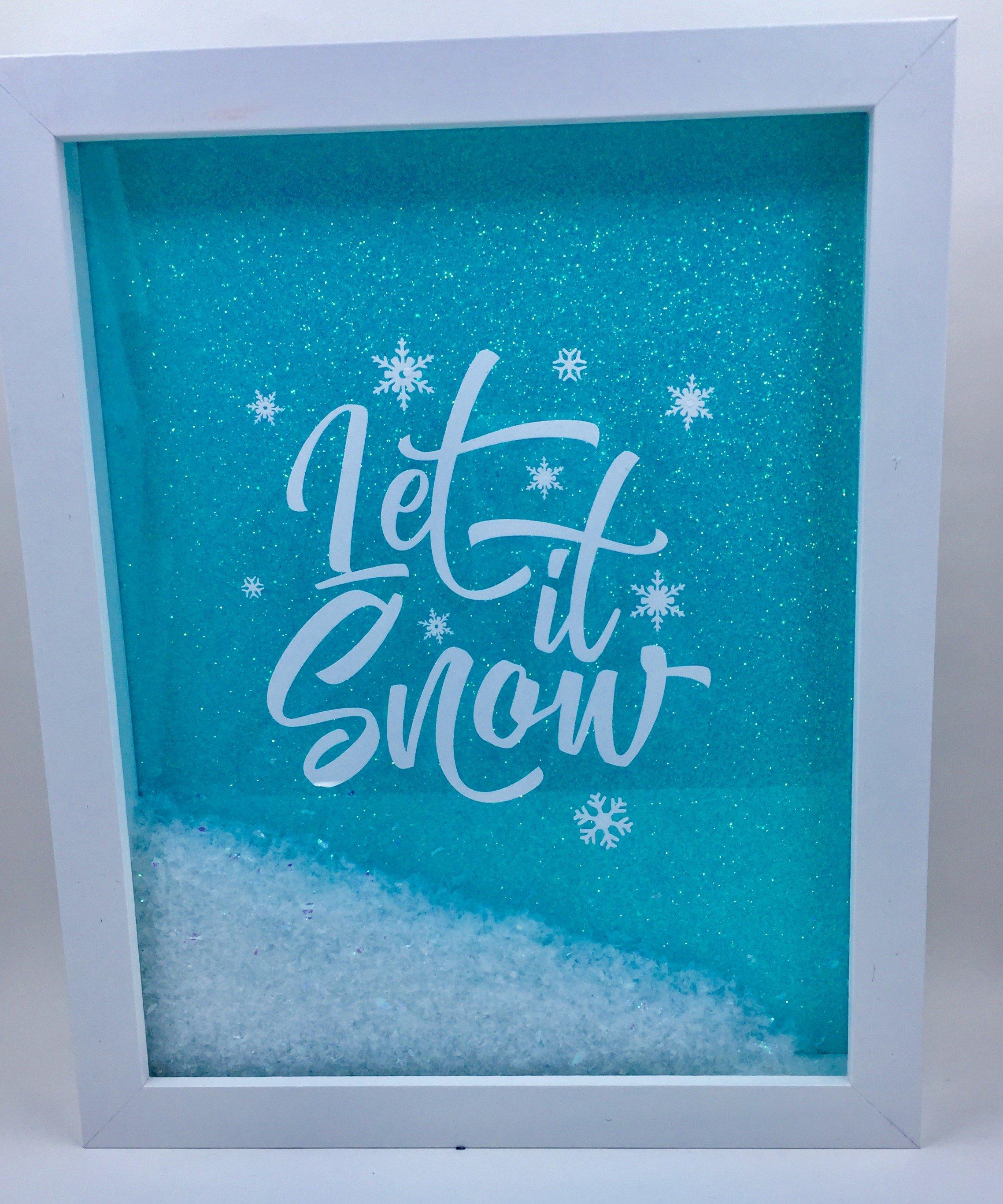 "8 x 10 Shadowbox ""Let It Snow"" Christmas shadow boxes"