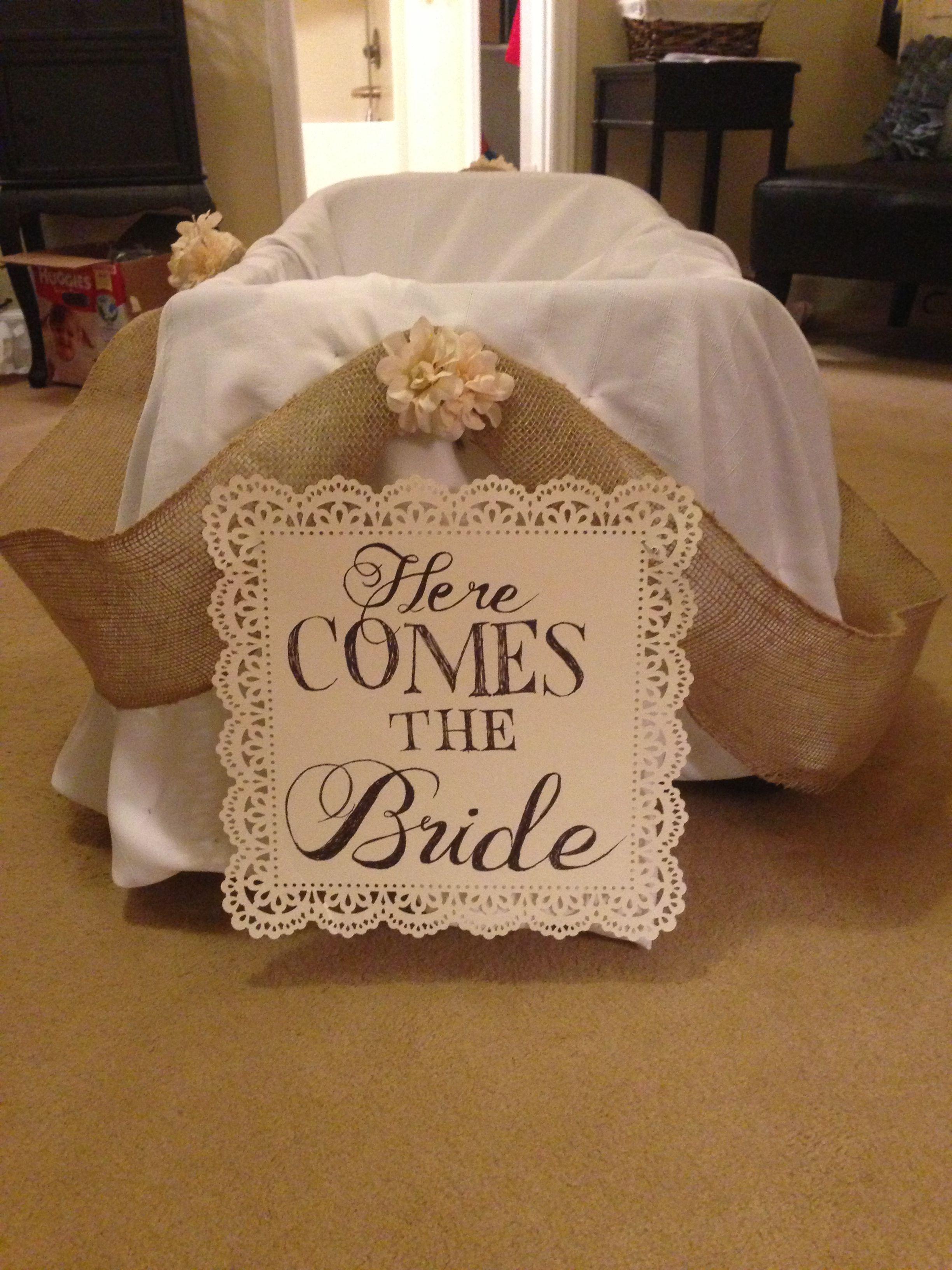 Diy flower girl wagon he put a ring on it pinterest wedding