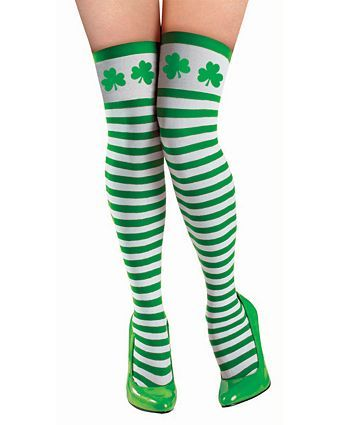 ee3e8c96d St. Patrick s Day Striped Thigh Highs