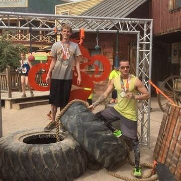 Getting down and dirty in Tucson. #terrainracing #run #mudrun #5k #10 #dirty by trevors_adventure