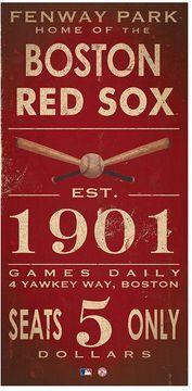 Boston Red Sox Vintage Canvas Wall Art