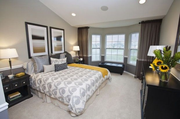 15 Visually Pleasant Yellow and Grey Bedroom Designs | Master ...
