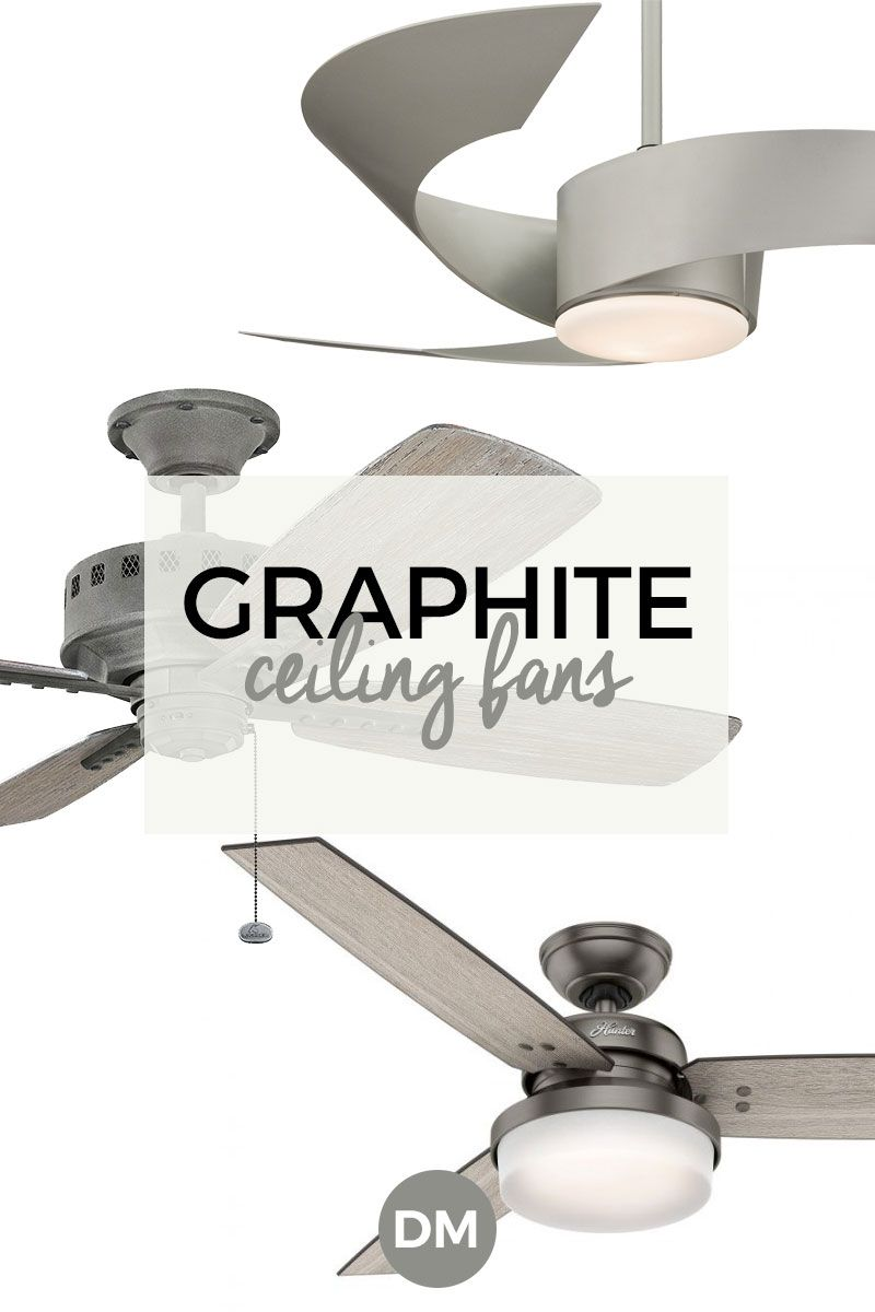 Graphite Ceiling Fans Provide A Subtle Sophistication To A Formal Room Gray Is A Versatile Neutral Color That Can Be Used To C Ceiling Fan Colored Ceiling Fan