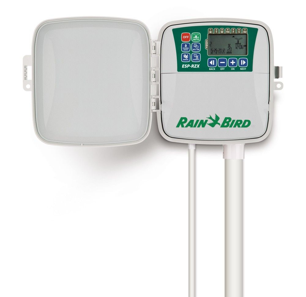 Schedule Each Valve Independently With This Rainbird Rzx8 120v Controller You Can Also Be Connected To Weather And Soil Moisture Sensor To Override Watering Sc
